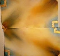 Shaddow, Gold, Malerei, Abstrakt