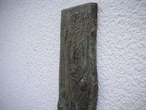 Baumrinde, Strukturpaste kn 17, Kieferbohle, Kunsthandwerk