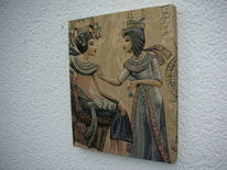 Pharao, Textil, Holzbildhauerei, Kunsthandwerk