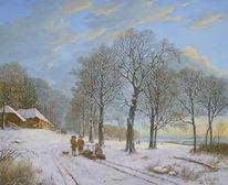 Landschaft, Alte meister, Wolkenstimmung, Winter