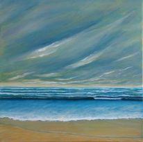 Meer, Himmel, Strand, Malerei