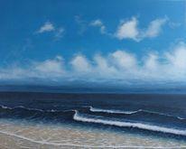Welle, Wolken, Meer, Malerei