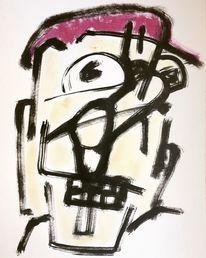 Junge, Kappe, Hut, Malerei