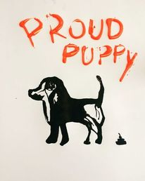 Hund, Welpe, Malerei