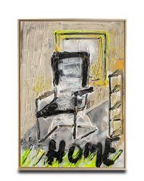 Wohnen, Stuhl, Malerei,