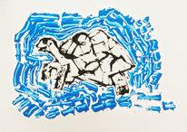Insel, Tortuga, Schildkröte, Malerei