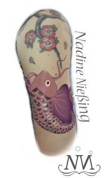 Koi tattoo tattoovorlage, Digitale kunst, Tattoovorlagen