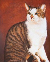Ölmalerei, Tierportrait, Katze, Auftragsarbeit