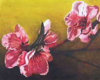 Blumen, Sonne, Lasurtechnik, Frühling