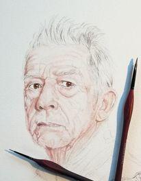 Menschen, Wip, Tuschmalerei, Zeichnung