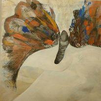 Loslasssen, Struktur, Schmetterling, Malerei