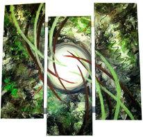 Malerei, Ölmalerei, Rahmen, Acrylmalerei