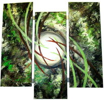 Wandmalerei, Abstrakt, Gemälde, Wandbild