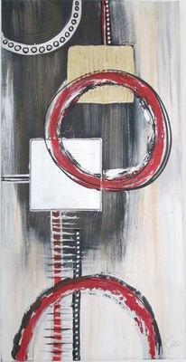 Zeitgenössisch, Acrylmalerei, Mischtechnik, Abstrakt