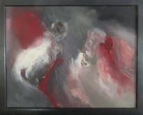 Acrylmalerei, Liebesrauschen, Mischtechnik, Malerei