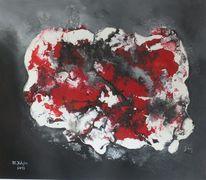 Liebe, Acrylmalerei, Weiß, Rot schwarz