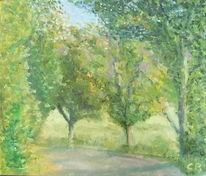 Kurve, Straße, Herbst, Baum