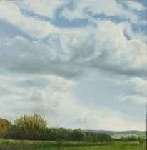 Steinbergen, Wolken, Landschaft, Sommer