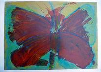 Di vora anneliese, Acrylmalerei, Schmetterling, Spachteltechnik