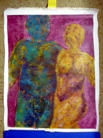 Bunt, Divo, Menschen, Acrylmalerei