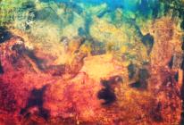 Abstrakt, Schluchtenwelt, Pigmente, Landschaft
