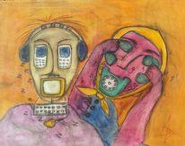 Farben, Pastellmalerei, Bunt, Telefon