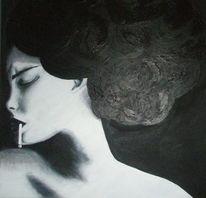 Frau, Zigarette, Gefühl, Emotion