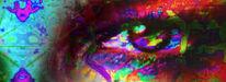 Augen, Weiblich, Bunt, Digitale kunst