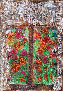 Blumen, Fenster, Vorhang, Aaussicht