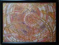 Gold, Acrylmalerei, Fantasie, Bunt