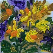 Frühling, Blumen, Narzissen, Malerei