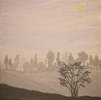 Acrylmalerei, Baum, Wetter, Malerei