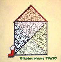 Acrylmalerei, Haus, Freude, Nikolaus