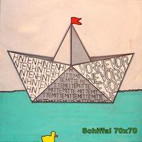 Schiffal, Acrylmalerei, Freude, Grafik