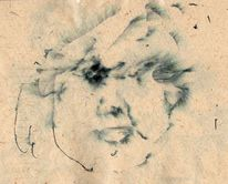 Füllfederhalter, Altpapier, Augen, Zeichnungen