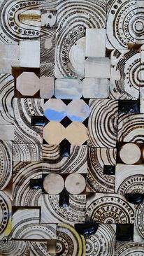 Geschliffen, Holz, Abstrakt, Brennen