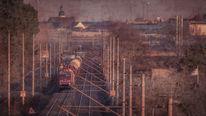 Bahn, Eisenbahn, Vintage, Güterzug