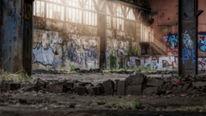Licht, Fabrikhalle, Verfallen, Lost place