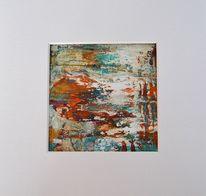 Abstrakt, Braun, Blau, Malerei