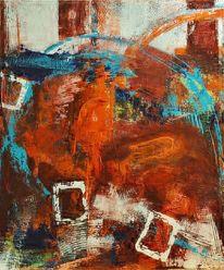 Expressionismus, Vielschichtig, Spachteltechnik, Malerei