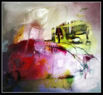 Figur, Abstrakt, Struktur, Mischtechnik