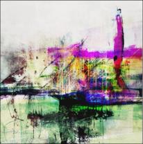 Gewässer, Gebäude, Hafen, Digitale kunst