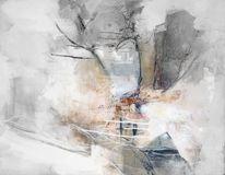 Nebel, Sturm, Herbst, Baum