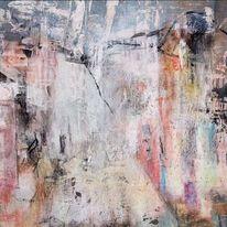 Pastellmalerei, Unschärfe, Struktur, Haus