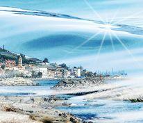Spanien, Meer, Bildbearbeitung, Urlaub