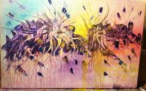 Acrylmalerei, Blumen, Explosion, Entstehung