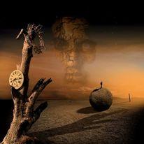 Gold, Uhr, Dornenkrone, Sonnenaufgang