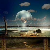 See, Unwetter, Traum, Fantasie