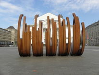 Fotografie, Wandbild, Theater, Stadt