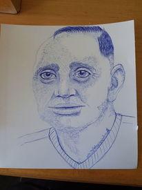 Acrylmalerei, Kugelschreiber, Ball, Büro